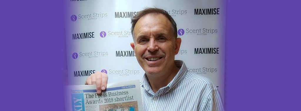 Andy Hudson - Scent Blotter Strips - The Press Exporter of the Year 2019 Awards